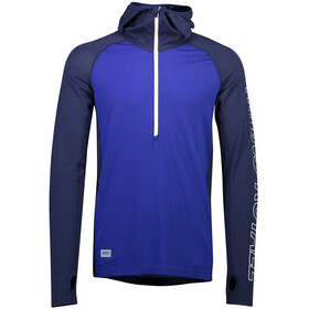 Mons Royale M's Temple Tech LS Hood Navy/Electric Blue